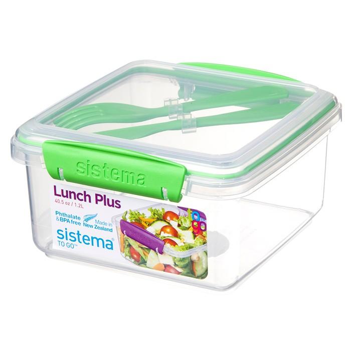 Картинка для Контейнеры для еды Sistema To-Go Контейнер с приборами 1,2 л
