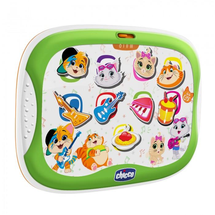 Игры для малышей Chicco Игрушка музыкальная Планшет 44 Котенка музыкальные игрушки top toys компьютер планшет gt8657