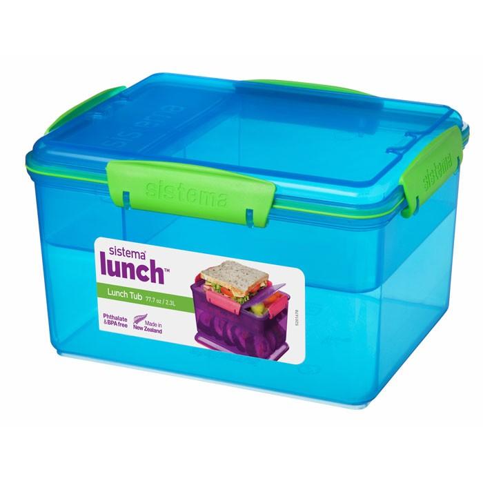 Картинка для Контейнеры для еды Sistema Lunch Контейнер двухуровневый с разделителями 2,3 л