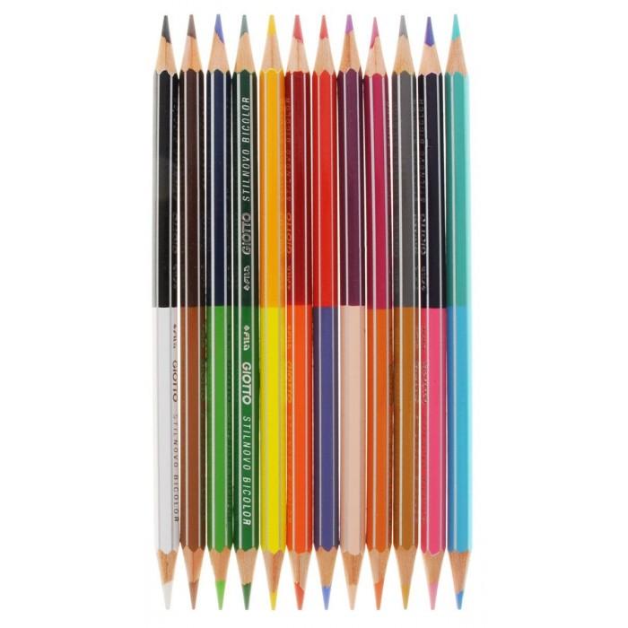 Карандаши, восковые мелки, пастель Giotto Stilnovo Bicolor Ast гексагональные 12 шт. 24 цвета giotto stilnovo цветные гексагональные 24 цвета