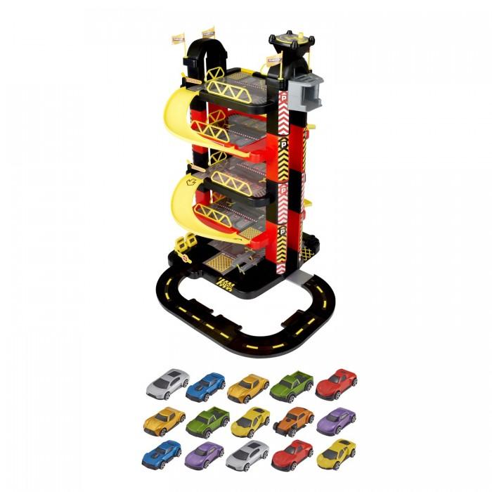 Машины HTI Игровой набор Teamsterz Гараж-башня 5 уровней с 15 машинками