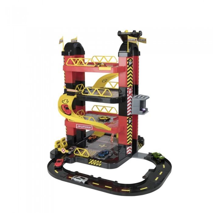Машины HTI Игровой набор Teamsterz Гараж-башня 4 уровня с 10 машинками