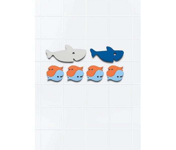 Картинка для Игрушки для ванны Quut Мягкий 2D пазл для игры в ванне Акулы (10 элементов)