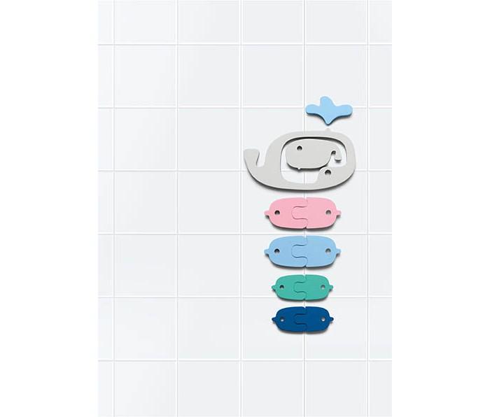 Картинка для Игрушки для ванны Quut Мягкий 2D пазл для игры в ванне Киты (11 элементов)
