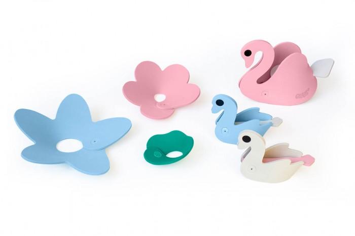 Купить Игрушки для ванны, Quut Мягкий 3D конструктор для игры в ванне Лебединое озеро (6 элементов)
