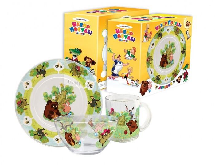 Купить Посуда, PrioritY Набор детской посуды Винни Пух (стекло)