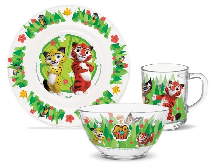 Купить Посуда, PrioritY Набор детской посуды Лео и Тиг (стекло)