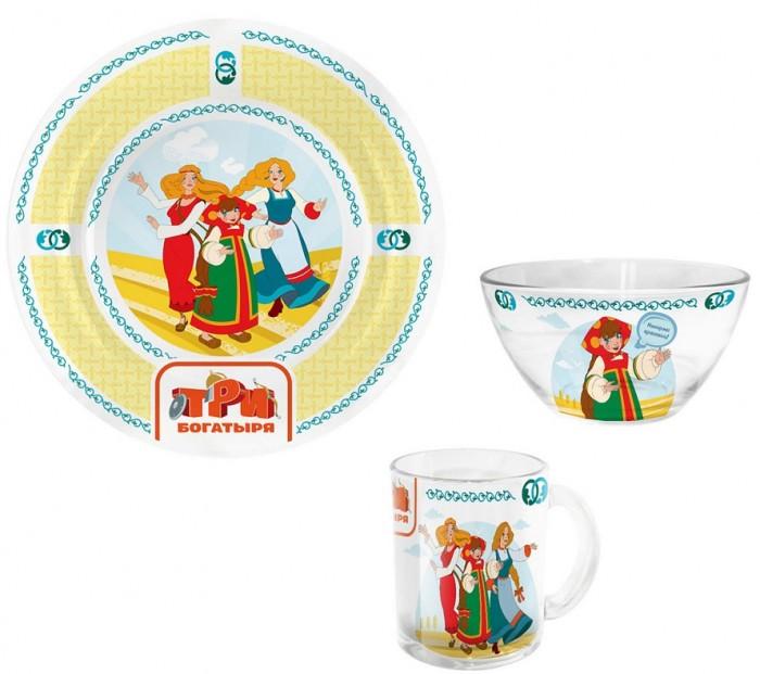 Посуда PrioritY Набор детской посуды Три богатыря Царевны (стекло)