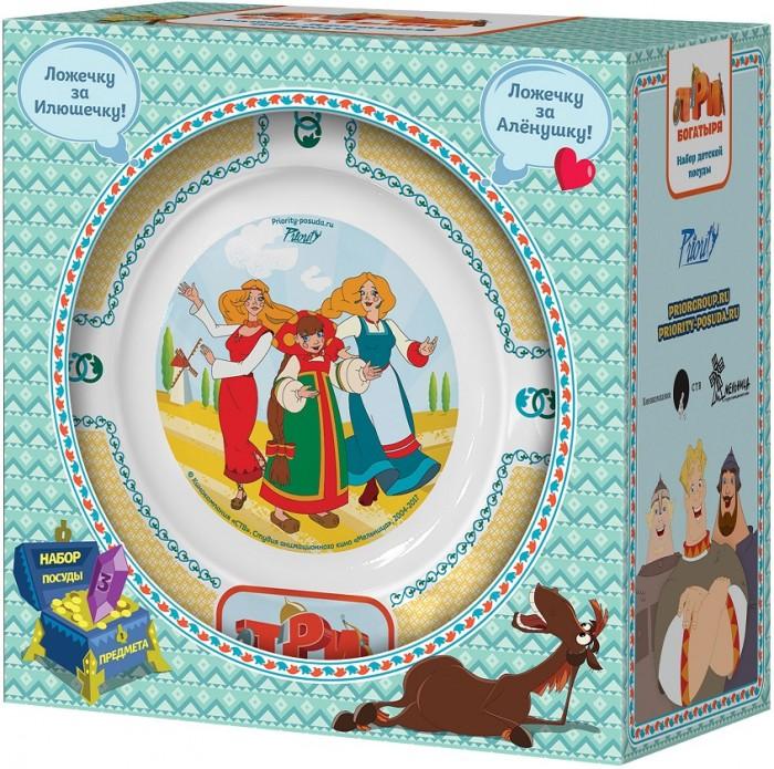 Посуда PrioritY Набор детской посуды Три богатыря Царевны (фарфор)