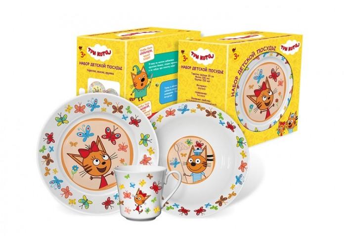 Купить Посуда, PrioritY Набор детской посуды Три кота Бабочки (фарфор)