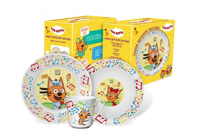 Купить Посуда, PrioritY Набор детской посуды Три кота Нотки (фарфор)