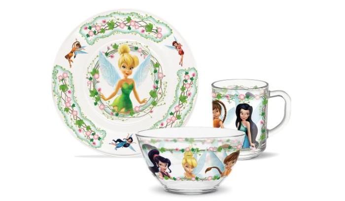 Купить Посуда, PrioritY Набор детской посуды Феи (стекло)