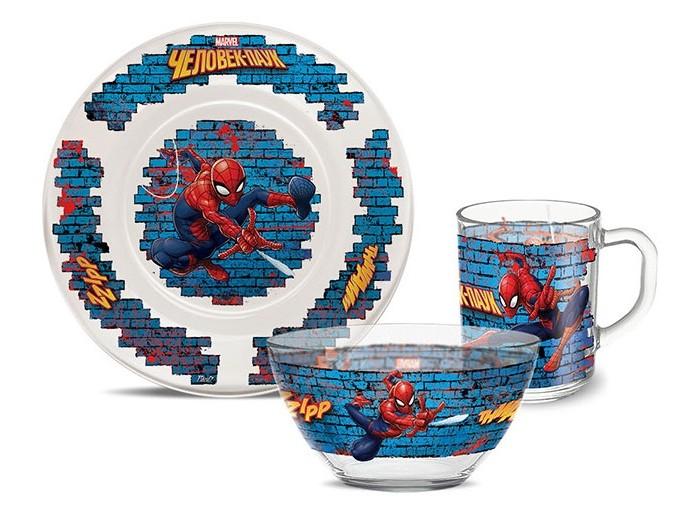 Посуда PrioritY Набор детской посуды Человек паук (стекло)