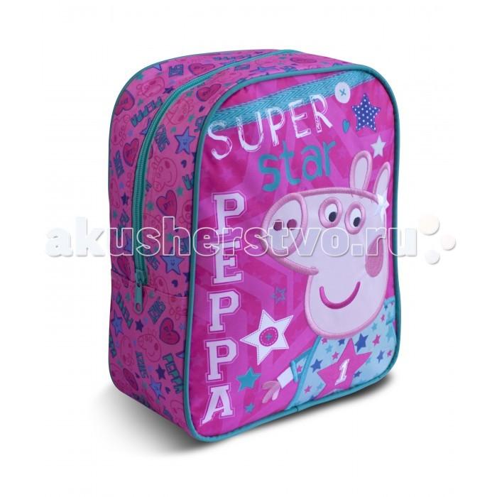 Купить Сумки для детей, Свинка Пеппа (Peppa Pig) Рюкзачок средний Свинка Пеппа Superstar