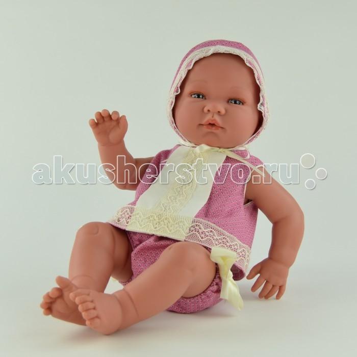 ASI Кукла Мария 45 см 363300Кукла Мария 45 см 363300Кукла-реборн, размер 45 см, полностью выполнена из винила, без волос, можно купать, в ярко-розовом костюмчике и шапочке, в комплекте пустышка, в красивой подарочной коробке.<br>