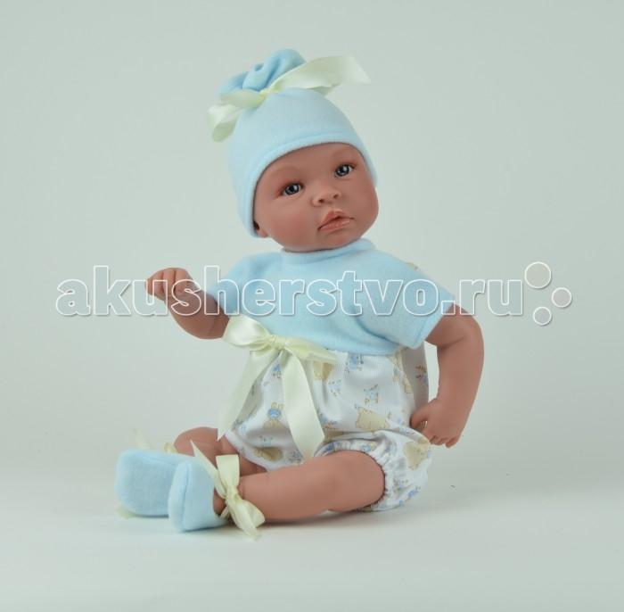 ASI Кукла Лео 50 см 182930Кукла Лео 50 см 182930Пупс, размер 50 см, тело мягконабивное, голова, руки и ноги из винила, без волос, в голубом комбинезоне и шапке, с озвучкой, в красивой подарочной коробке.<br>