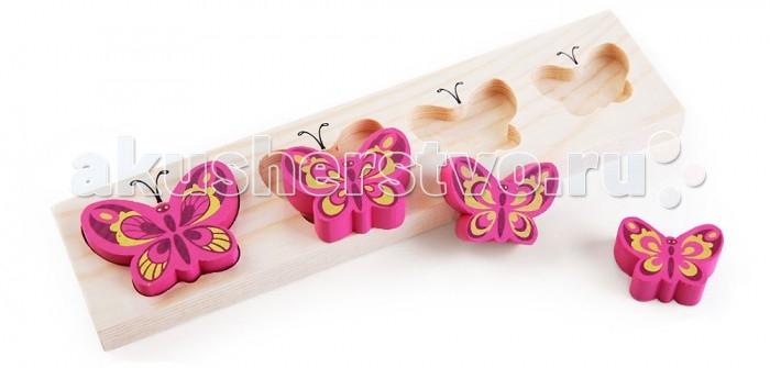 Деревянные игрушки Томик Доска-Вкладыш Бабочки БМ