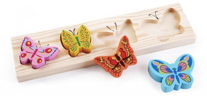 Деревянные игрушки Томик Доска-Вкладыш Бабочки пазлы бомик вкладыш бабочки