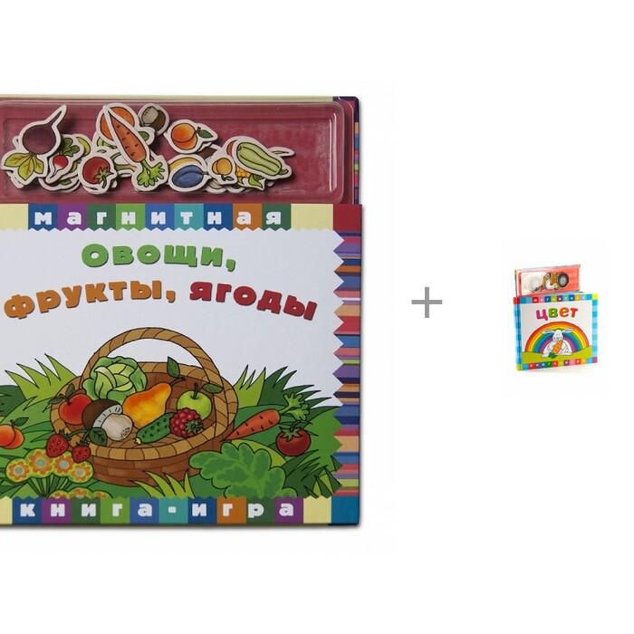 Обучающие книги Магнитные книжки Овощи, фрукты, ягоды и Цвет недорого