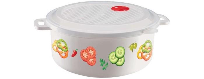Картинка для Контейнеры для еды Phibo Ёмкость с декором для холодильника и микроволновой печи 3 л