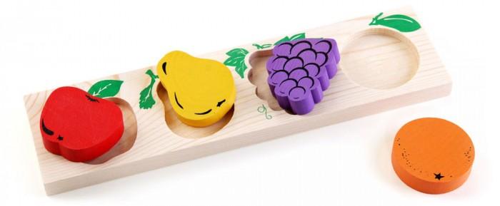 где купить Деревянные игрушки Томик Доска-Вкладыш Фрукты-ягоды по лучшей цене