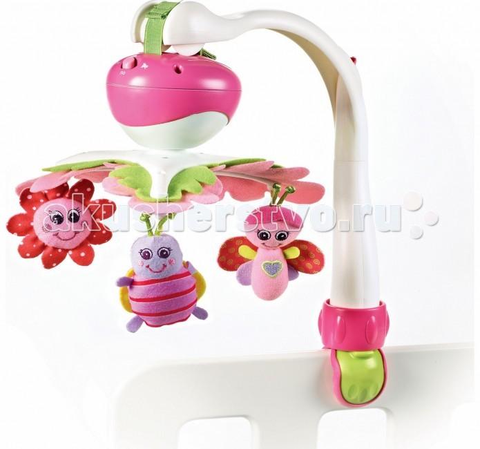 Мобиль Tiny Love Моя принцессаМоя принцессаЭтот небольшой мобиль можно разместить на коляске, кроватке или автомобильном кресле.   Идеально подходит для любого состояния ребенка: активного бодрствования, спокойного отдыха и нежного сна. Цвета, контрастные текстуры, а также движущиеся части смогут обогащать визуальный опыт младенцев, помогая им научиться фокусироваться на объектах и отслеживать движениями глаз.  Особенности: красочные фигурки животных время мелодии 30 минут (5 различных мелодий) 2 режима: вращение и вращение с музыкой универсальное крепление, которое подходит для всех типов манежей, кроваток, прогулочных колясок и автокресел когда малыш подрастет (после 5 месяцев) дуги демонтируются, и он уже играет сам с игрушками, а музыкальный блок используется как музыкальная шкатулка  Питание: 3 х АА. Батарейки в комплект не входят и приобретаются отдельно. Упаковка: коробка - 19,5 х 10,5 х 34 см<br>