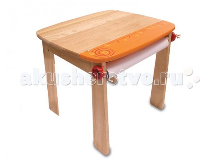 Купить Столы и стулья, I'm toy Стол для рисования с держателем для рулона бумаги и контейнером