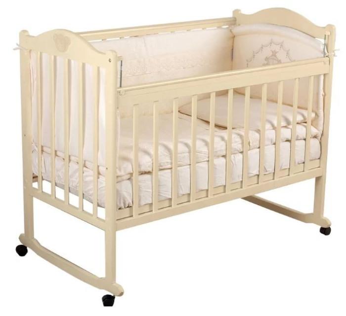 Детские кроватки Incanto Pali с мишкой без ящика колесо-качалка