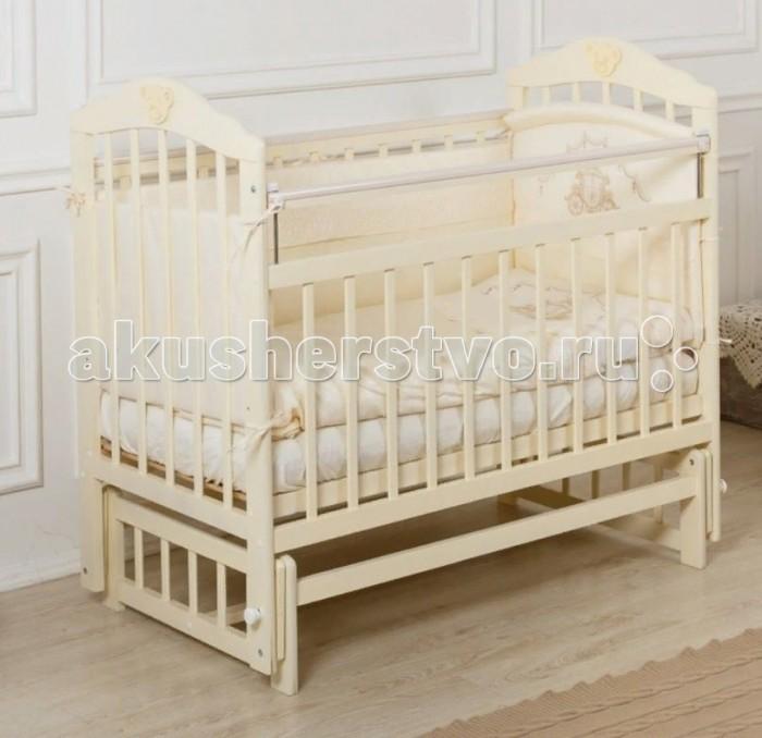 Детская кроватка Incanto Pali с мишкой без ящика продольный маятник