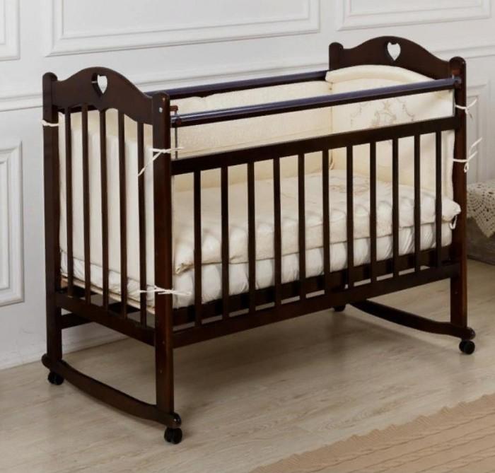 Детские кроватки Incanto Sofi с сердечком без ящика колесо-качалка