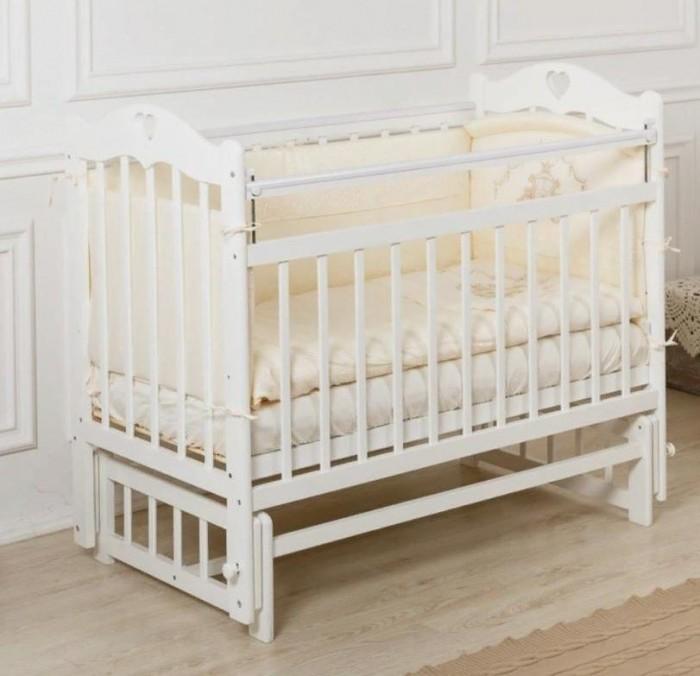 Детская кроватка Incanto Sofi с сердечком без ящика продольный маятник
