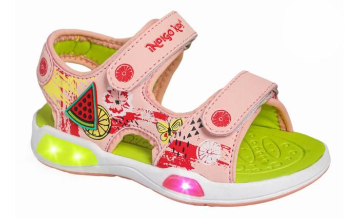 Купить Босоножки и сандалии, Indigo kids Сандалии для девочки со светодиодами 22-201B/12
