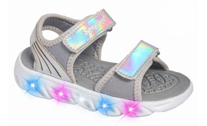 Босоножки и сандалии Indigo kids Сандалии для девочки со светодиодами 22-205A/12 кроссовки ecotex star кроссовки со светодиодами для девочки 7 06