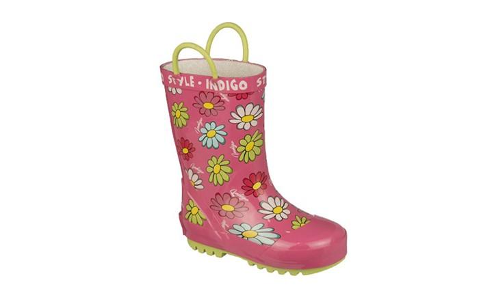 Резиновая обувь Indigo kids Сапоги резиновые для девочки 80-237