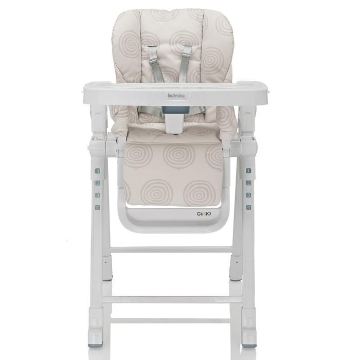 Стульчик для кормления Inglesina GustoGustoСтульчик для кормления Inglesina Gusto   Стульчик Inglesina Gusto прекрасный стульчик для кормления, станет незаменимым помощником для родителей.  Особенности: подходит для малышей которые уже могут самостоятельно сидеть от 6 месяцев до 3-х лет  легко устанавливается и компактно складывается в сложенном виде имеет очень компактные размеры  регулируемый поднос в двух положениях  высота сидения регулируется в 5-ти позициях 3 уровня наклона спинки сидения  текстильная часть сиденья изготовлена из легко моющегося материала поднос съемный  5-ти точечные ремни безопасности   Размеры:  в собранном виде(ширина x min -max высота x глубина): 55 x 80-103 x 77 cm в сложенном виде(ширина x высота x глубина): 55 x 86.5 x 20.5 cm Вес с подносом: 8.45 кг Вес без подноса: 7.0 кг<br>