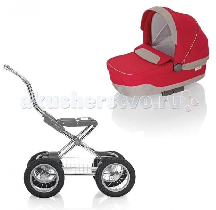 Детские коляски , Коляски-люльки Inglesina Sofia на шасси Comfort Chrome Slate надувные арт: 177100 -  Коляски-люльки