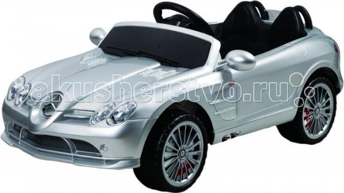 Электромобиль Injusa Mercedes-Benz SRL McLarenMercedes-Benz SRL McLarenЭлектромобиль Injusa Mercedes-Benz SRL McLaren с 2 двигателями - мощный как оригинальный автомобиль.   Особенности:    С 2-мя двигателями, 12 V  Электромобиль на пульте радиоуправления  R\C, аккумуляторный  Разгоняется до 4,5 км\ч за 4 секунды....  функция:нарастающее ускорение.  В нем все как у оригинальной машины-сиденье с подголовником,передние фары светятся, складываются зеркала,руль с сигналом,ветровое стекло.  Электромобиль может ехать вперед-назад,  руль поворачивается вправо-влево.   Ксеноновыефары светятся разноцветными цветами под музыку.  С музыкальным рулем- песни и клаксон как у настоящего авто.  разъем(вход)для МР3 плеера.   Электромобиль работает как от пульта,так и от запасного переключателя. Радиус действия пульта-до 30 метров.   Для включения электромобиля достаточно вставить ключ в замок зажигания и завести машину.   Время работы электромобиля- 1-1,5 часов.   Корпус-полипропилен усиленный,закаленный, противоударный-прочен и долговечен. Не останется ни одной царапины, потому что экологически чистая краска проникает глубоко внутрь корпуса.Можете не бояться царапин.  Реалистичные подобные оригиналу сплав колес,с уникальным протектором шин-имитация реальных покрышек с резиновыми накладками.  Стальное шасси.  Эргономика сиденья-10 баллов.    В комплекте:    пульт радиоуправления,  зарядное устройство 220В,   аккумуляторная батарея 12 V -7 АH,  2 мотора 30W.    Рекомендуется детям от 3 лет.  Максимальная нагрузка- 30 кг.<br>