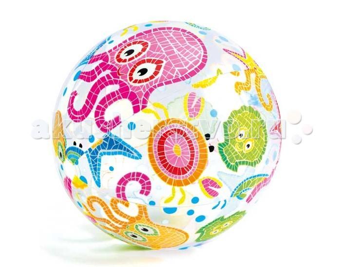 Мячики и прыгуны Intex Мяч Узоры Ливели 51см 59040NP intex узоры ливели 3 вида 61см от 3лет intex