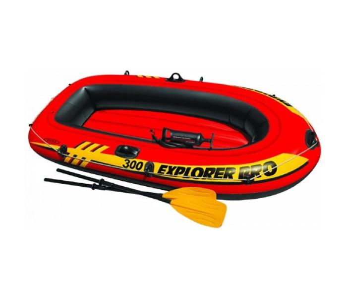 Матрасы для плавания Intex Надувная лодка Explorer PRO 300 с веслами и насосом надувная лодка sea pro n360al