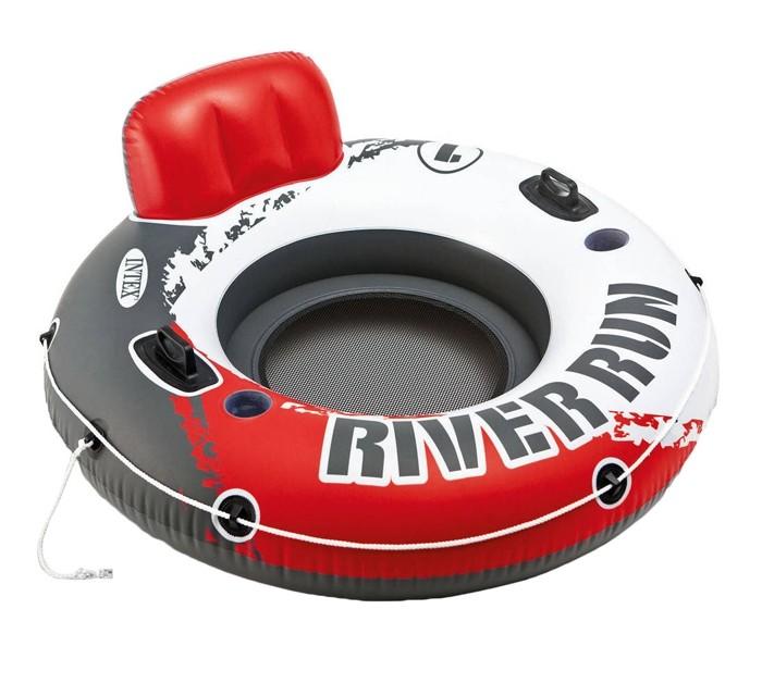 Intex Надувной круг Ривер Ран с держателями для рук 135 см фото