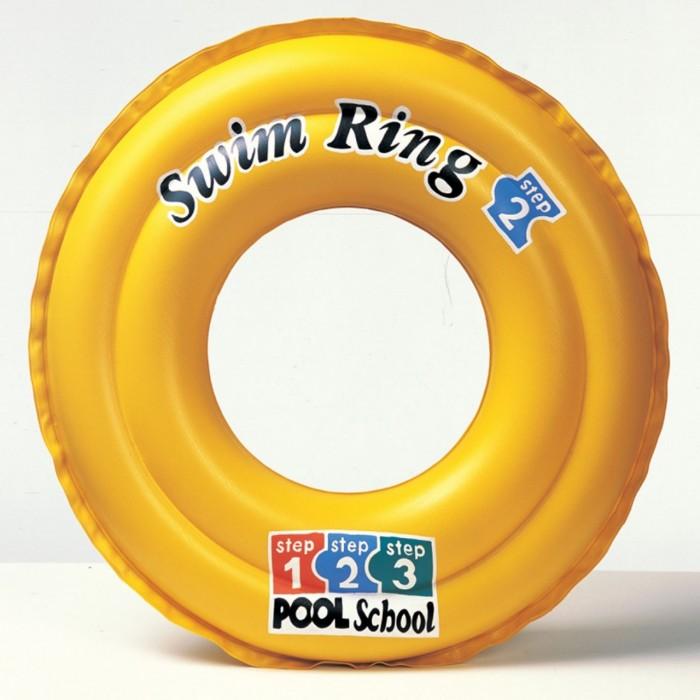 Круги и нарукавники для плавания Intex Надувной круг Swim Ring 51 см круги и нарукавники для плавания intex надувной круг кристальный 114 см