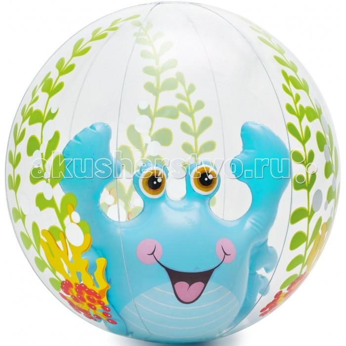 Мячики и прыгуны Intex Надувной мяч 61 см с58031 надувная игрушка для открытого воздуха intex надувной прозрачный 182х86 см