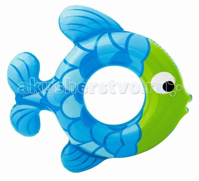 Круги и нарукавники для плавания Intex Надувной круг Рыбка круги и нарукавники для плавания intex надувной круг канди с ручками и спинкой 102 см