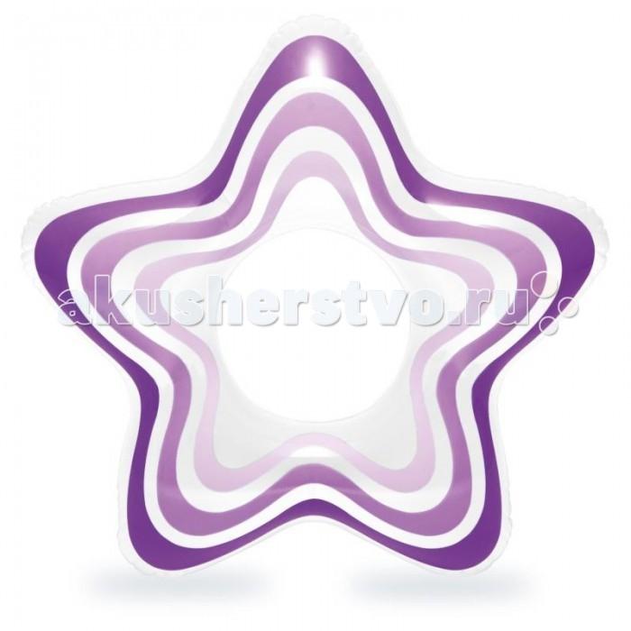 Круги и нарукавники для плавания Intex Надувной круг Звезда матрасы для плавания intex лодка детская 59380np