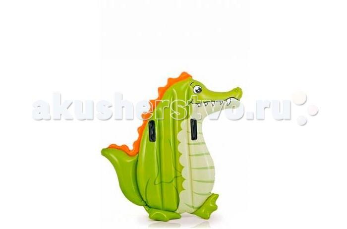Матрасы для плавания Intex Надувной плот с держателями Крокодил/Пингвин надувной плот intex пингвин с держателями 114 х 94 см с58151