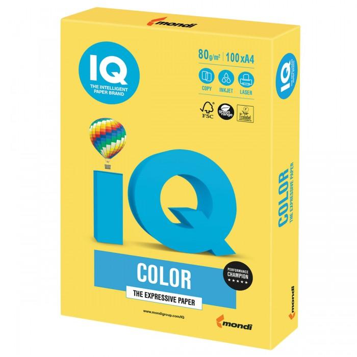 Канцелярия IQ Color Бумага цветная Интенсив А4 100 листов бумага iq color а4 80 г м2 250 л 5 цв x 50 л цветная интенсив rb02