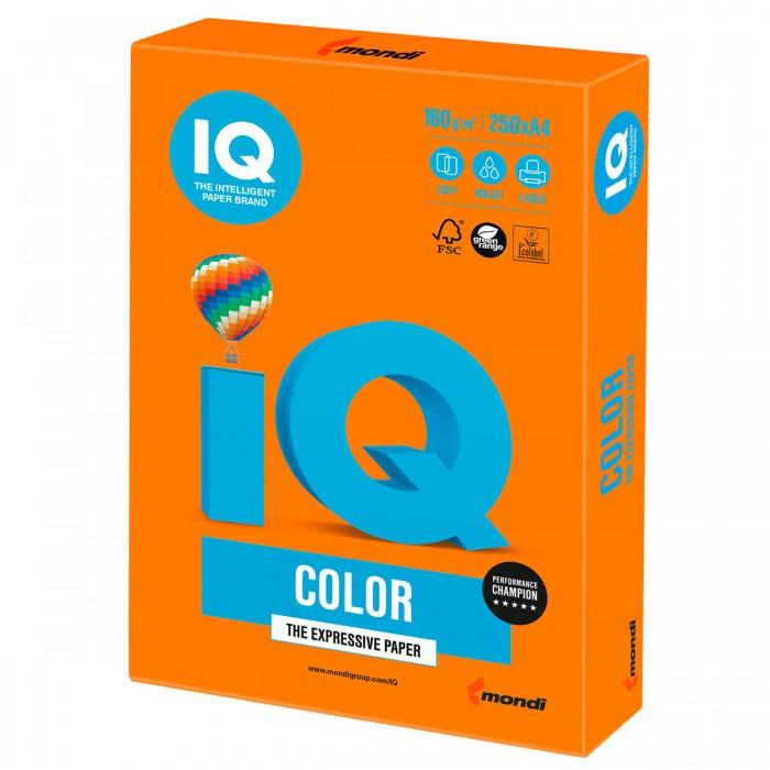 Фото - Канцелярия IQ Бумага цветная Интенсив А4 160 г/м2 250 листов бумага цветная iq color а4 160 г м2 100 л 5 цветов x 20 листов микс интенсив rb02