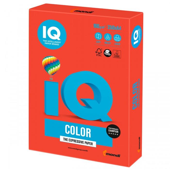 Канцелярия IQ Color Бумага цветная Интенсив А4 250 листов бумага iq color а4 80 г м2 250 л 5 цв x 50 л цветная интенсив rb02