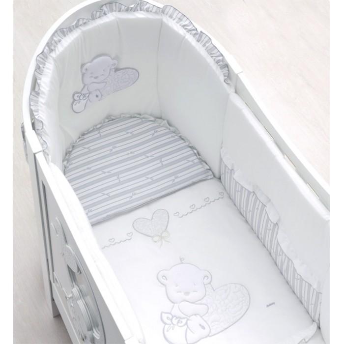 Постельное белье Italbaby Комплект из 5 предметов для кроватки Love Oval