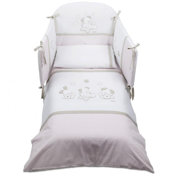 Картинка для Комплект в кроватку Italbaby Sweet Star для кроватки 140x70 см (5 предметов)